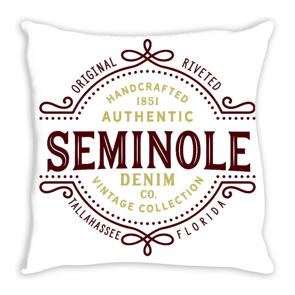 iheart FSU seminoles denim and stripe throw pillow