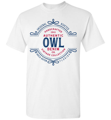 iheart FAU owls denim men's t-shirt