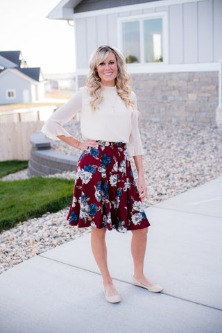 Hunter floral skirt