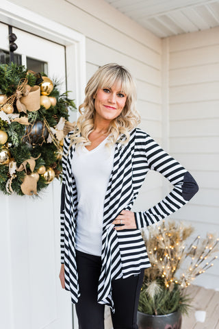 Janice striped cardigan