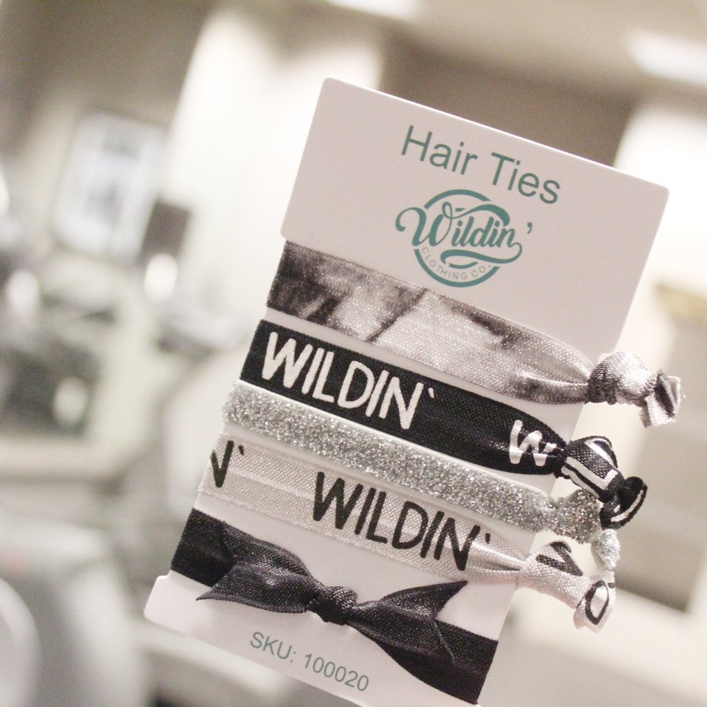 wildin-clothing-co-assorted-hair-ties-ponytails-bracelet-wristbands-wild-black-white-gray-silver