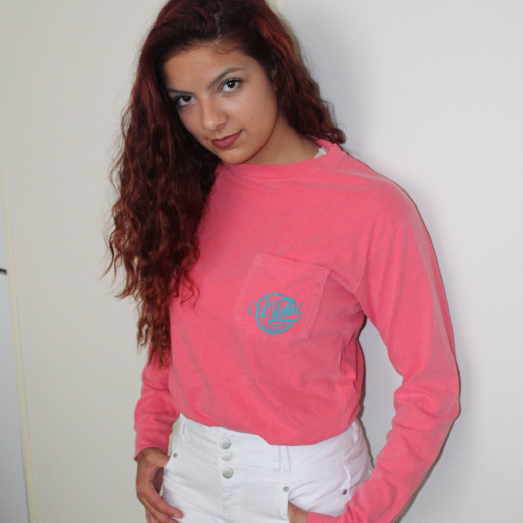 Tropical Pocket Long Sleeve Tee
