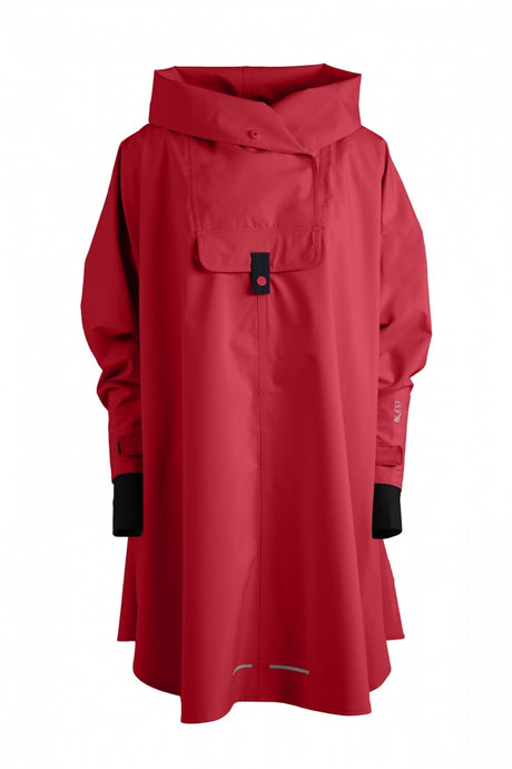 Style 580 BERGEN PONCHO RED