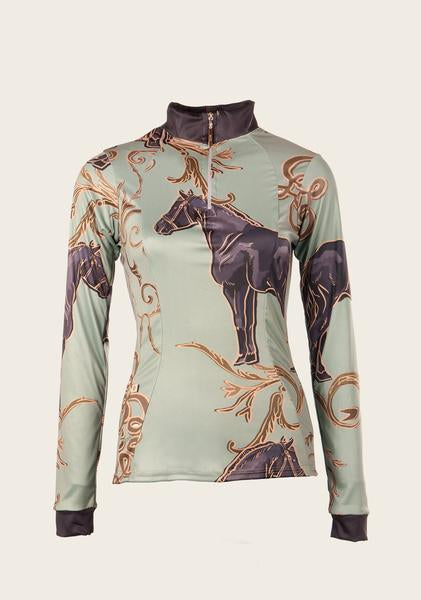 Espoir Mint Green with Horse Grande Shirt