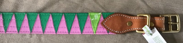 Boy O Boy Bridleworks Stirrup Buckle Belts Pink Green