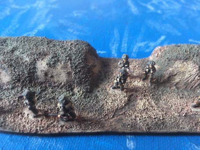 Infantry platoon advancing