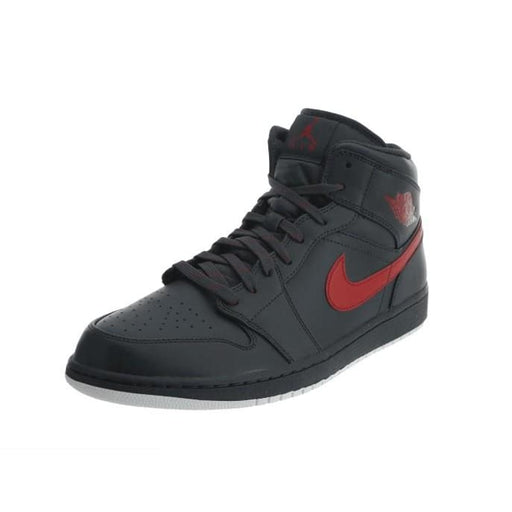 AIR JORDAN 1 RETRO MID ANTHRACITE GYM RED Mens shoes Jordan airforece airmax authentic basketball black