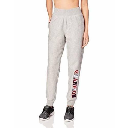 Champion LIFE Womens Reverse Weave Jogger-Old English Lettering pants and shorts