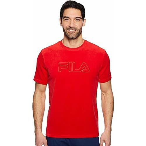 Fila Mens Ellis T-Shirt Tee color-chinese-red fila size-large size-medium size-x-large