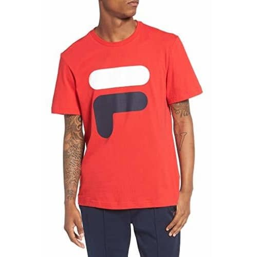 Fila Mens Floating F T-Shirt Tee color-chinese-red-navy-white color-navy-white-chinese-red fila size-3x-large size-4x-large