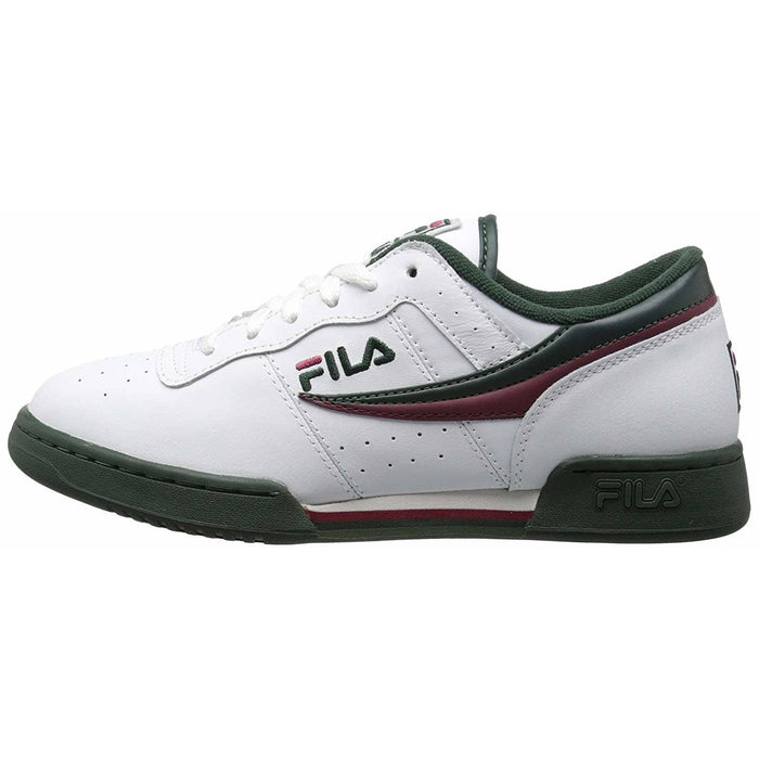Fila Mens Original Fitness Lea Classic Sneaker Shoes color-cream-peacoat-fila-red fila size-10 size-10-5 size-11 7.91E+11
