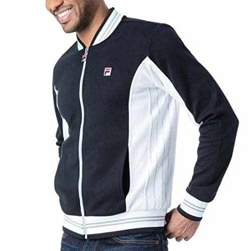 Fila Mens Settanta Jacket 100-150 color-black-white color-red-gardenia-navy fila size-large