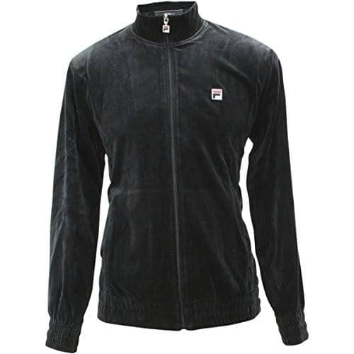 Fila Mens Velour Jacket 75-100 color-biking-red color-black color-black-heather fila