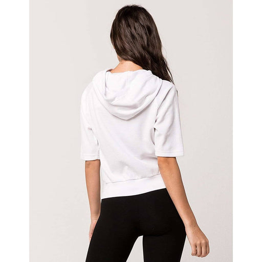 Fila Womens Ariana Short Sleeve Hoodie color-white-black fila size-large size-x-large size-x-small