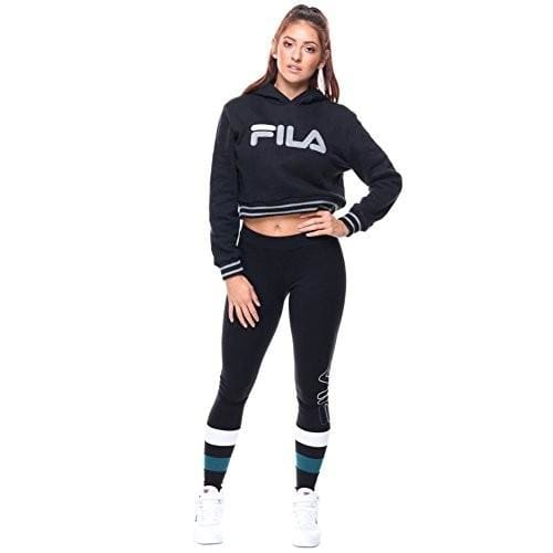 Fila Womens Penelope Hoodie color-black-grey-heather-white fila size-large size-medium