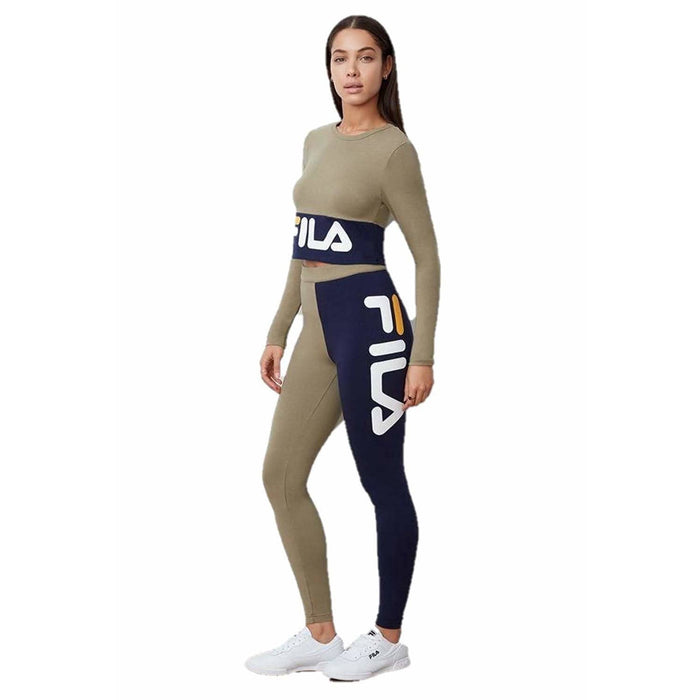 Fila Womens Vita High Waist Leggings LW193Y64319 Dry Green Peacoat pants and shorts