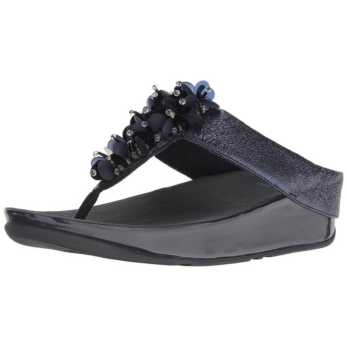 FitFlop Womens Boogaloo Toe Post Sandals shoes 100-150 color-black color-midnight-navy color-rose-gold fitflop