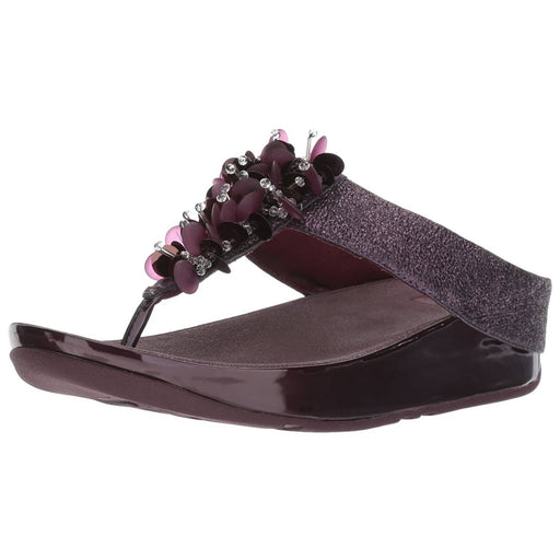 FitFlop Womens Boogaloo Toe Post Sandals shoes 100-150 color-deep-plum fitflop Sandal sandals