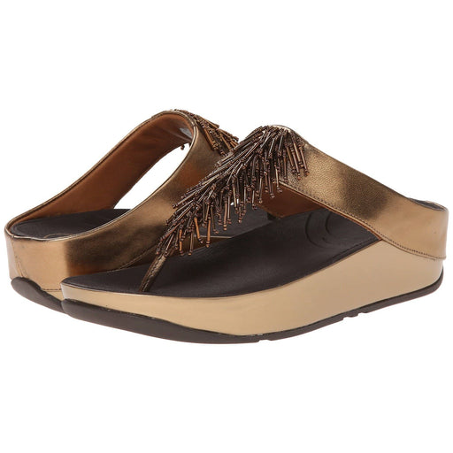 FitFlop Womens Cha Thong Sandals shoes 100-150 bronze cha color-bronze fitflop