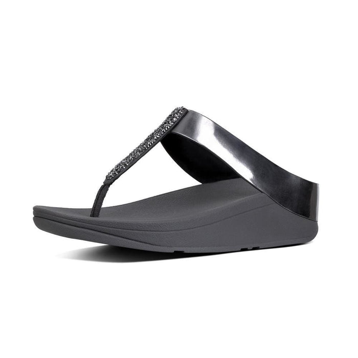 FitFlop Womens Fino Toe-Thong Sandals shoes 75-100 color-bronze color-pewter fitflop Sandal