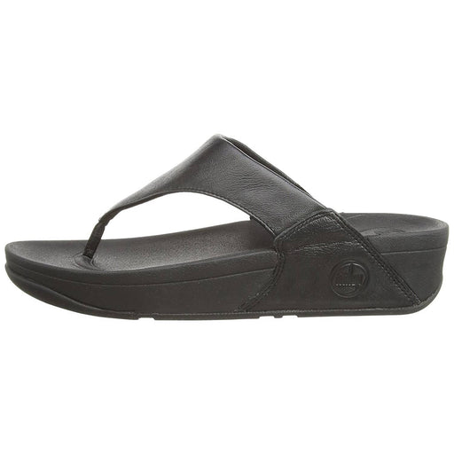 FitFlop Womens Lulu Leather Flip Flops shoes 100-150 color-black color-deep-plum fitflop Sandal