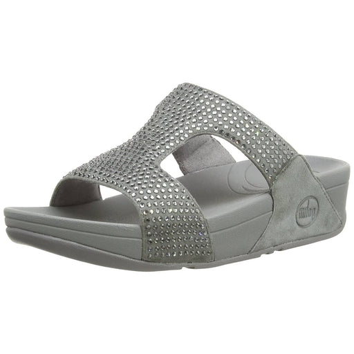 FitFlop Womens Slinky Rokkit Slide Sandals shoes 100-150 color-silver color-supernavy fitflop Sandal