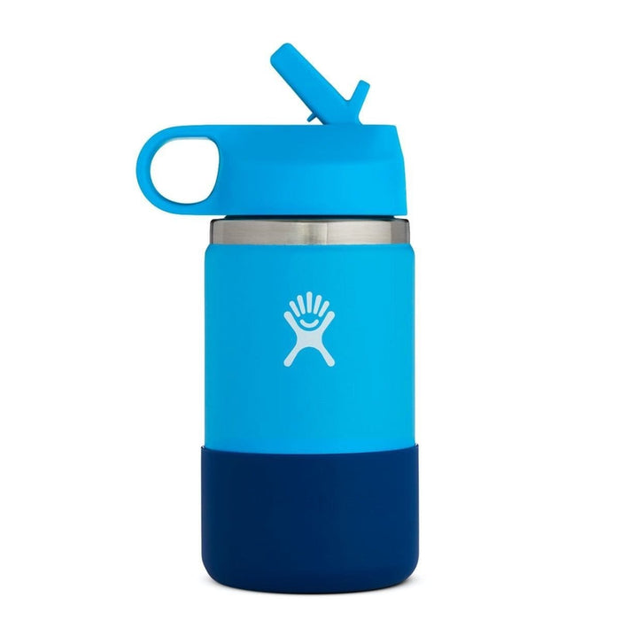Hydro Flask Kids Wide Mouth 12 oz Water Bottle with Straw Lid 810007837734