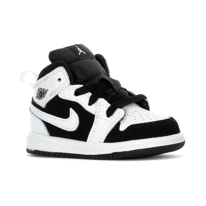 Jordan 1 Mid White/Black-White (TD) Kids shoes airforece airmax authentic basketball black 1.92E+11