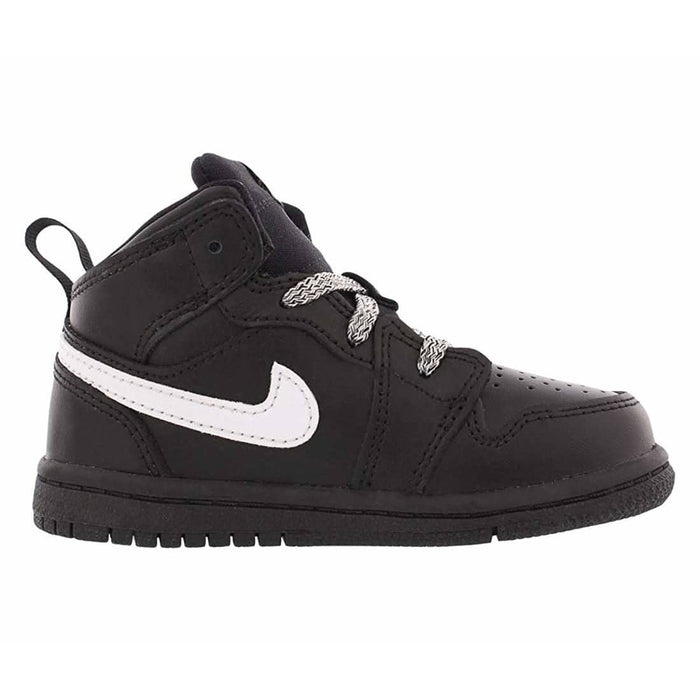 Jordan Retro 1 Mid Black/White-Black (Toddler) Kids shoes airforece airmax authentic basketball black 8.87E+11