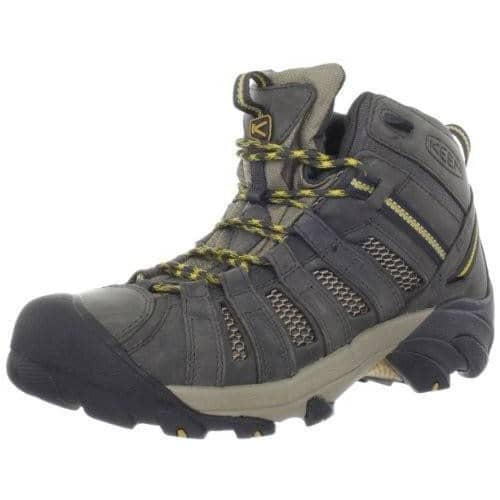 KEEN Mens Voyageur Mid Hiking Boot Shoes 100-150 boots Brown color-raven-tawny-olive