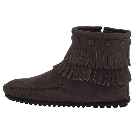 Minnetonka Womens Double-Fringe Side-Zip Boot shoes 7.48E+11