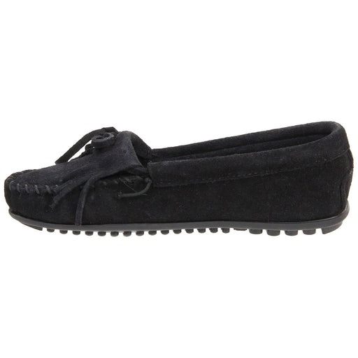 Minnetonka Womens Kilty Moc Black shoes 7.48E+11