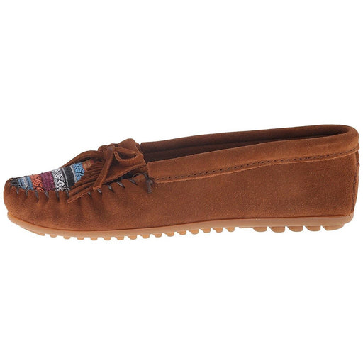 Minnetonka Womens Kilty Moc Stone Suede shoes 8.87E+11