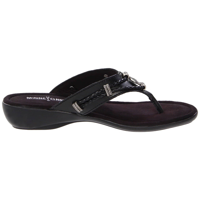 Minnetonka Womens Silverthorne Thong Sandal shoes 7.48E+11