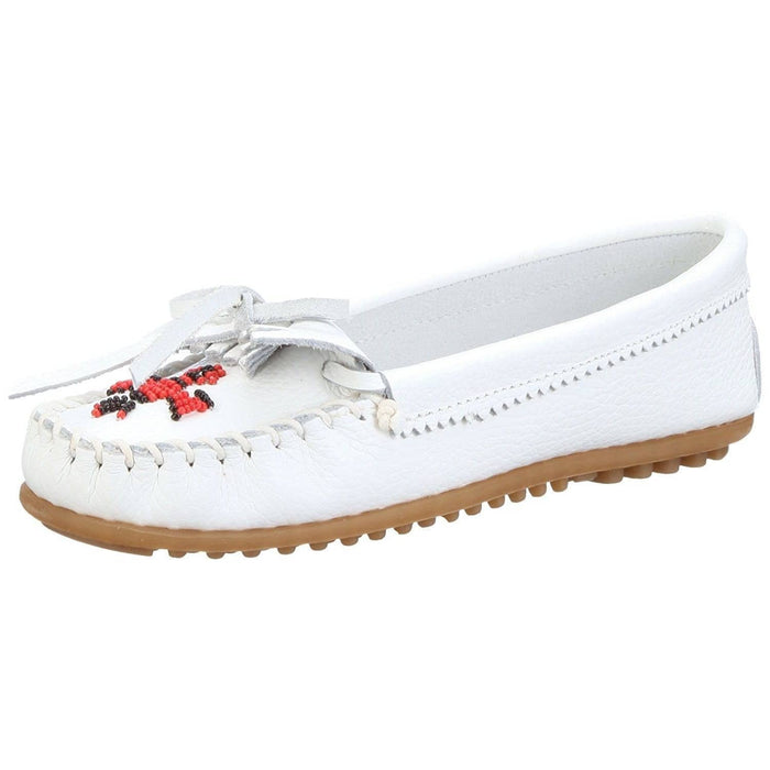Minnetonka Womens Thunderbird II Moccasin shoes color-black color-dusty-brown color-gray color-taupe color-white 7.48E+11
