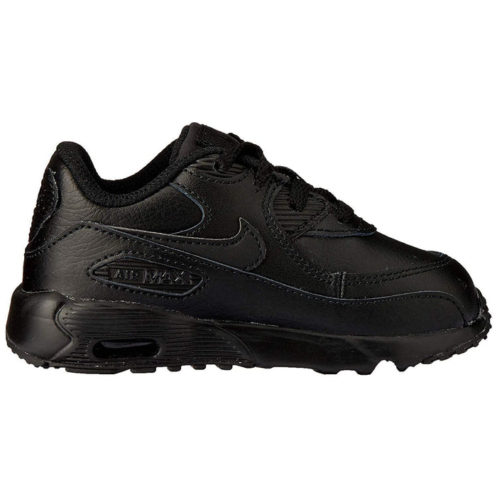 Nike Air Max 90 Leather Ankle-High Fashion Sneaker Kids shoes airforece airmax authentic basketball black 8.26E+11