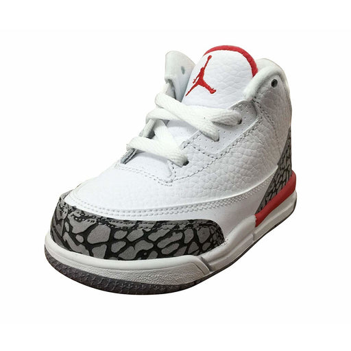 NIKE Jordan Retro 3 Katrina White/Fire Red-Cement Grey Kids shoes airforece airmax authentic basketball black 8.83E+11