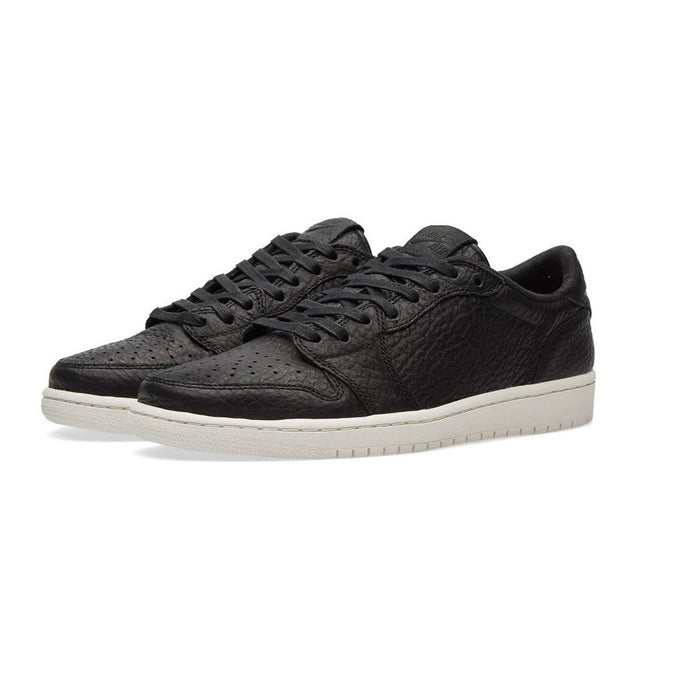 Nike Mens Air Jordan 1 Retro Low Black/Sail Leather shoes airforece airmax authentic basketball black