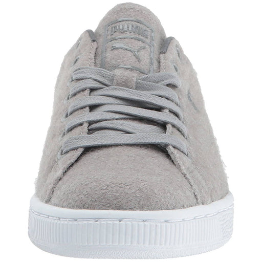 PUMA Mens Basket Classic Embossed Wool Sneaker Shoes color-drizzle-steel-gray color-winetasting-lilac-snow puma size-10-dm-us size-11-dm-us