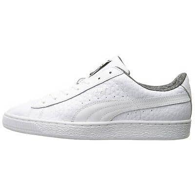 PUMA Mens Basket Classic Textured Sneaker Shoes 75-100 color-castoro-gray color-white puma size-10-dm-us