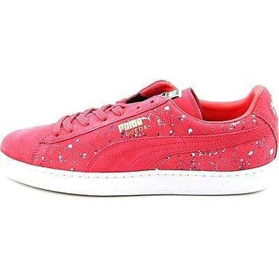 PUMA Mens Classic Splatter Sneakers Shoes color-teaberry-red-white puma size-11-5-dm-us size-11-dm-us size-12-dm-us