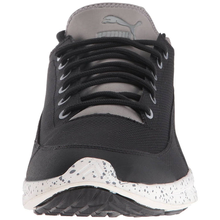 PUMA Mens Ignite Sock Winter Tech Sneaker Shoes 100-150 color-peacoat-tempest color-puma-black-steel-gray color-winetasting-glacier-gray