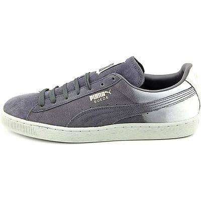 PUMA Mens Suede Classic+ Blur Sneaker Shoes color-glacier-gray-vermillion-orange-white color-periscope-glacier-gray-white puma size-10-dm-us