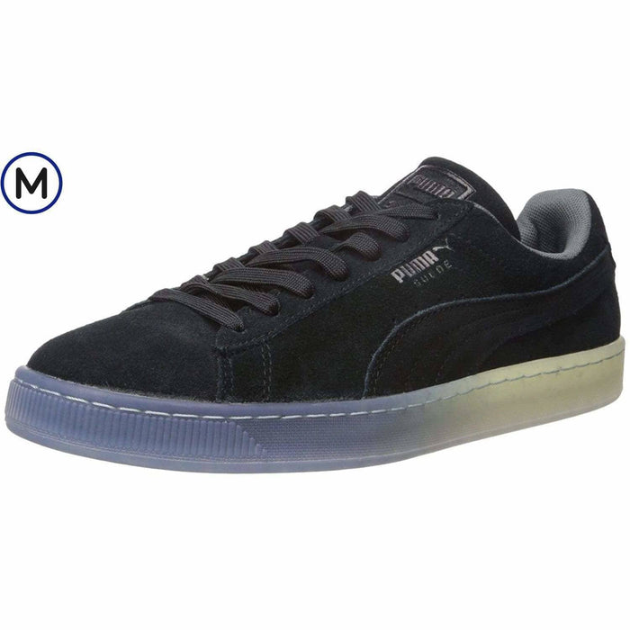 PUMA Mens Suede Classic Fade Future Sneaker Shoes 75-100 color-puma-black color-puma-royal color-steel-gray puma 889181375431