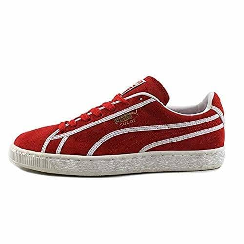 Puma Mens Suede Courtside Binding High Risk Red Sneakers Men PUMA 888533763971