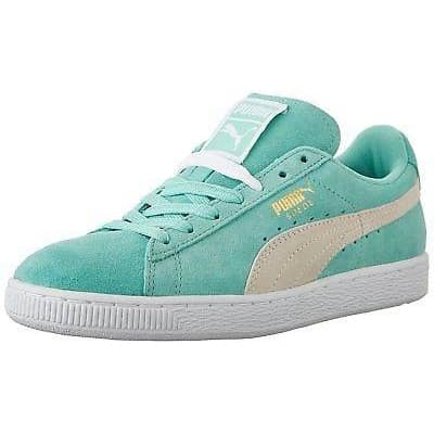 PUMA Womens Suede Classic Sneaker shoes color-holiday-white puma size-5-5 size-6