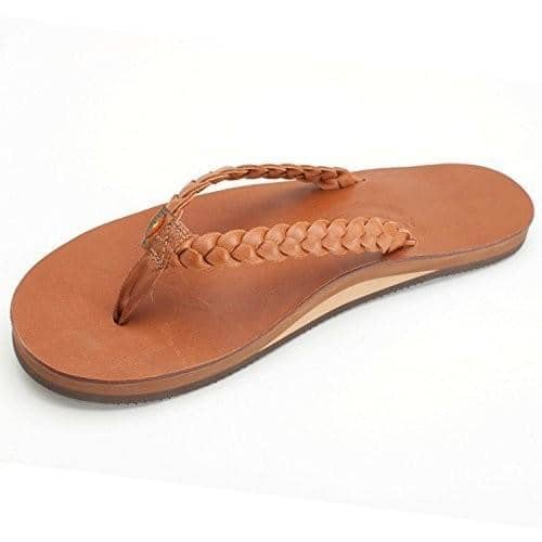 Rainbow Sandals Womens Twisted Sister - Single Layer Classic Leather with Arch Support and a Double Braided Strap shoes color-classic-mocha