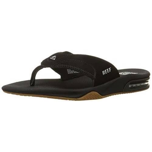 Reef Fanning Mens Sandals | Bottle Opener Flip Flops For Men Shoes color-all-black color-black-brown color-brown-gum color-grey-black reef