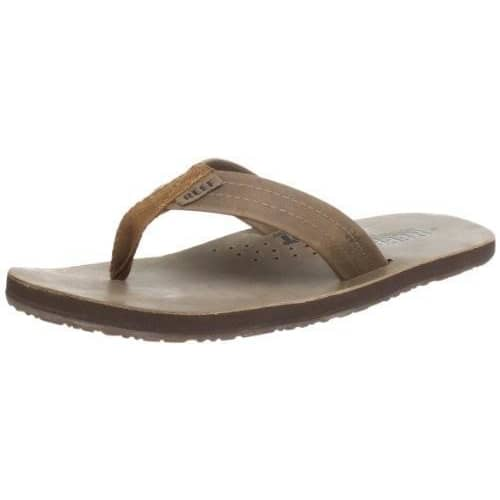 Reef Mens Draftsmen Sandal Shoes color-bronze-brown reef size-7-men Slipper