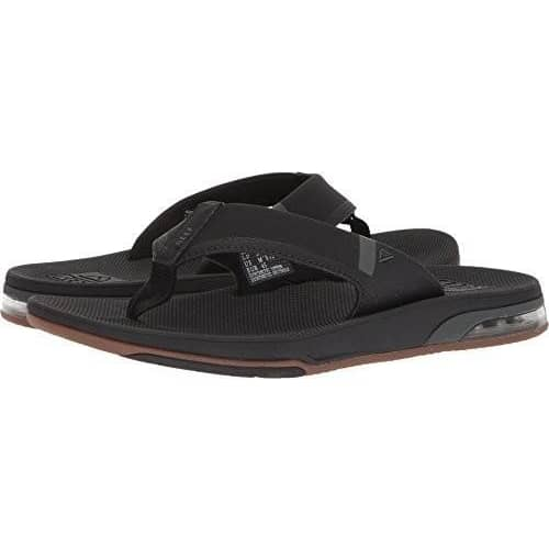 Reef Mens Fanning Low Thong Sandal Shoes color-black color-black-tan color-brown color-grey-blue color-grey-orange 1.91E+11